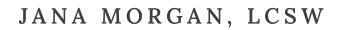 Jana Morgan, LCSW Logo